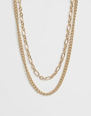 Liars & Lovers Exclusive gold chunky chain 2 pack necklaces $13.00