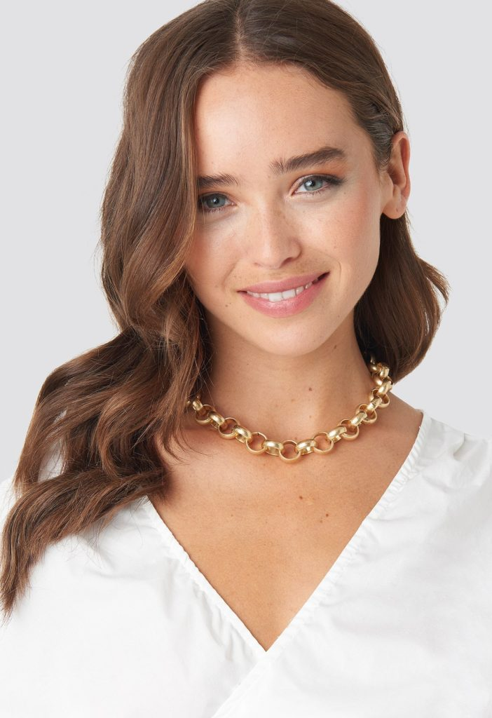 Matte Chunky Chain Necklace Gold $17.95