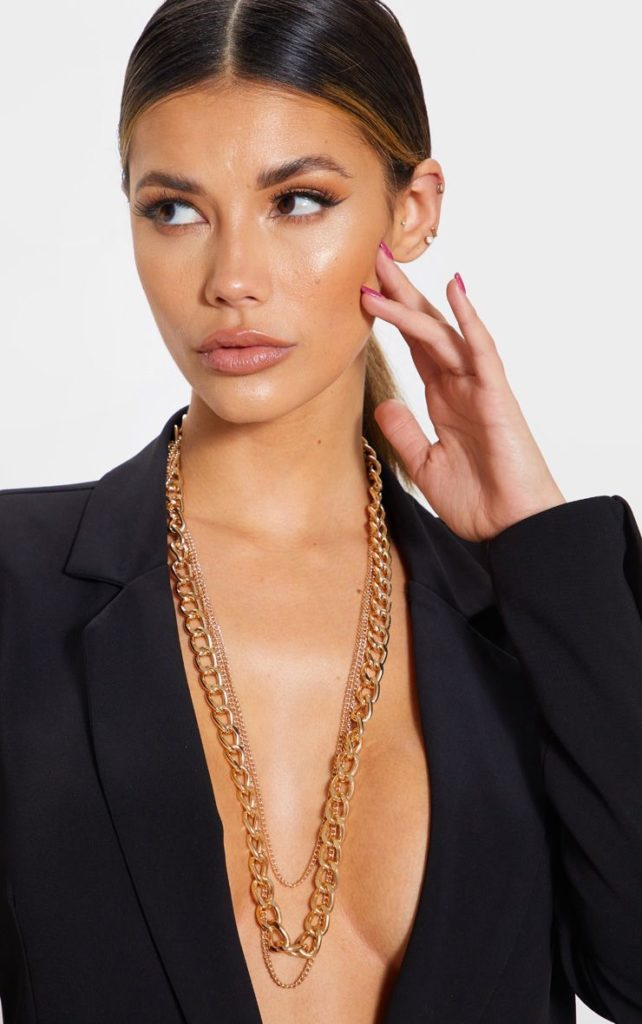 GOLD MULTI CHAIN NECKLACE $15.00