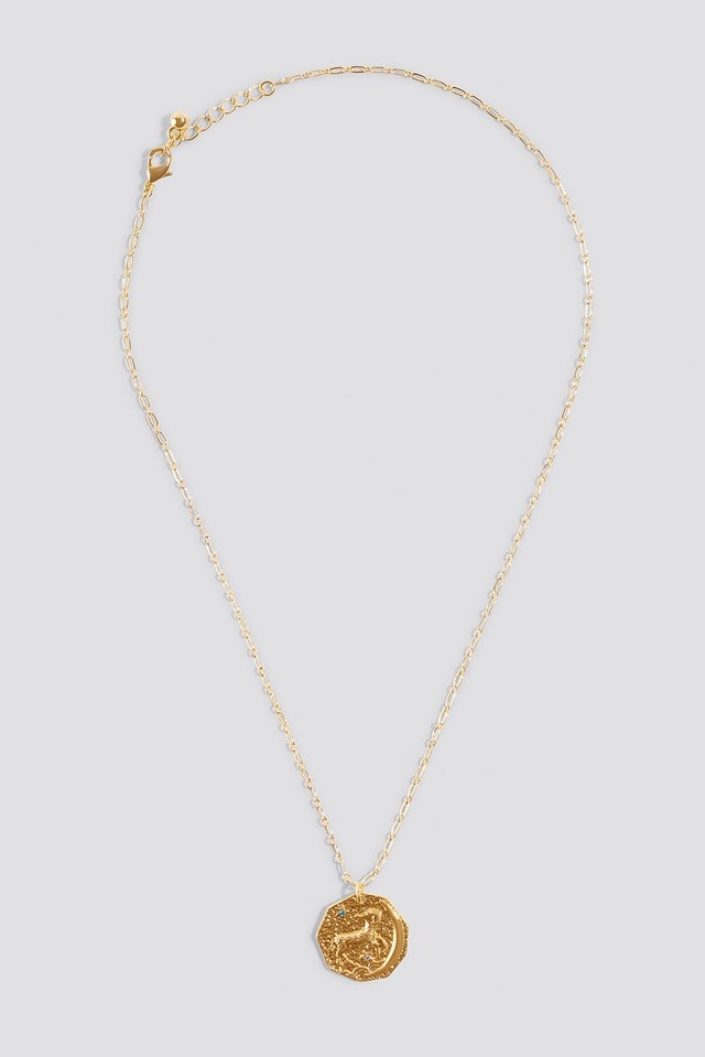 Round Medallion Necklace Gold $14.95