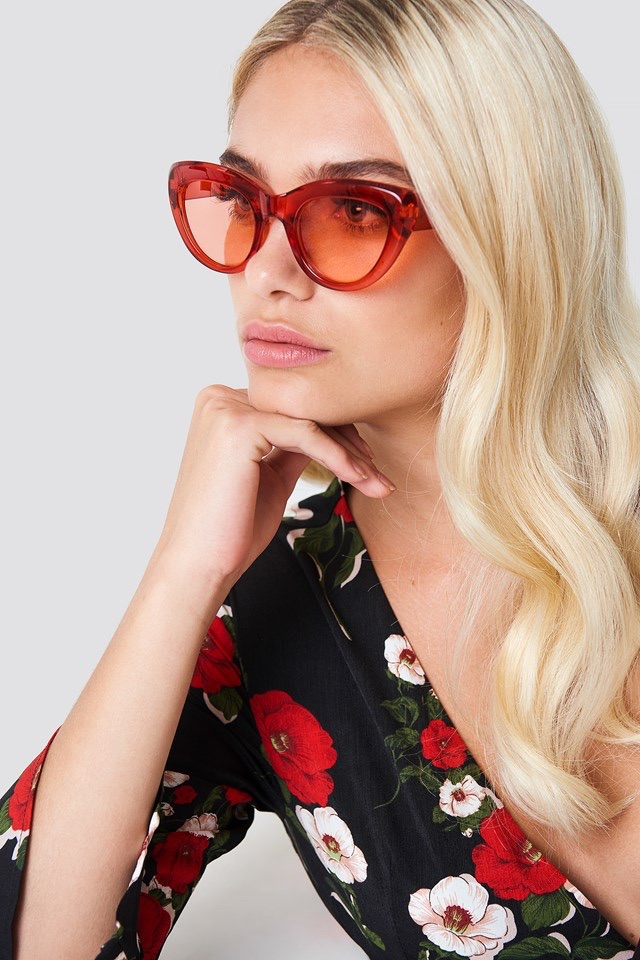 Cat Eye Sunglasses Red $11.95