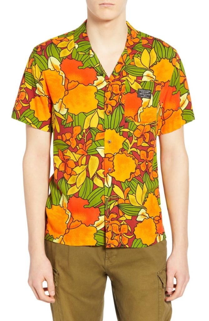 Hawaiian Fit Print Camp Shirt SCOTCH & SODA $109.00