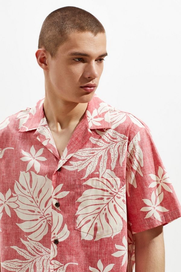RJC Hawaii Broadcloth Aloha Short Sleeve Button-Down Shirt $65.00