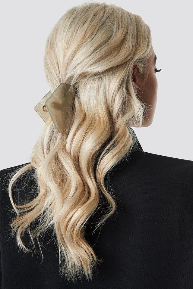 Big Shimmering Hair Clip Grey $11.95