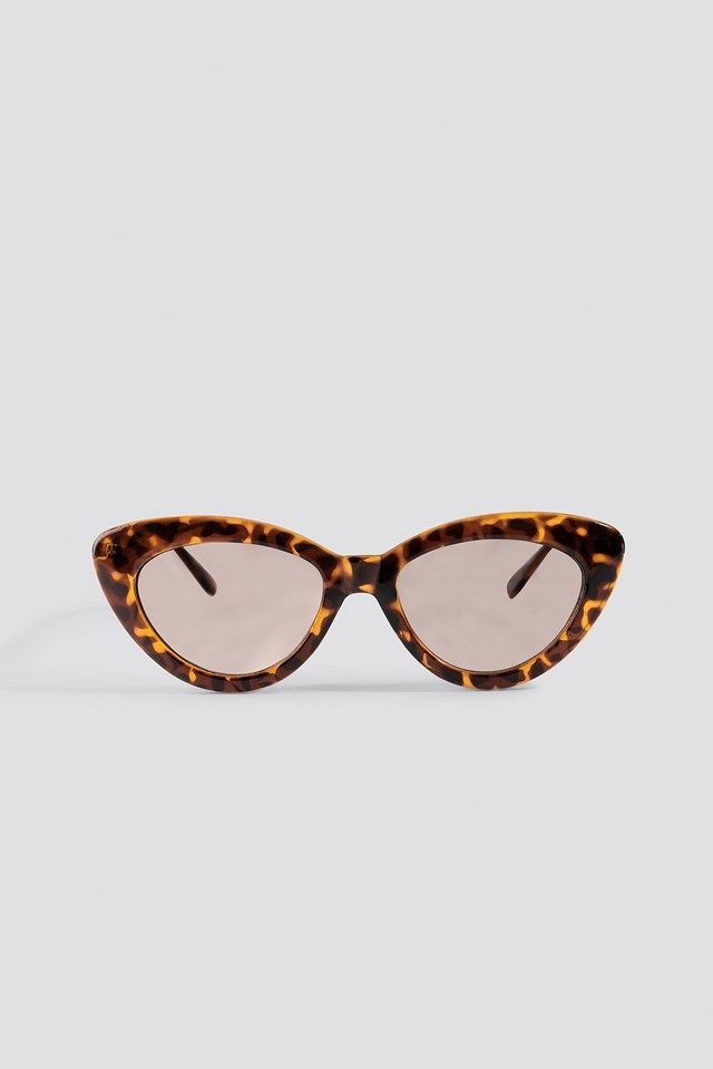 Retro Cat Eye Sunglasses Brown $23.93