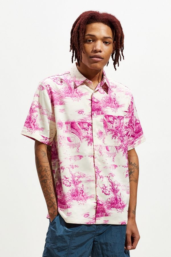 UO Nobility Toile Satin Button-Down Shirt$59.00