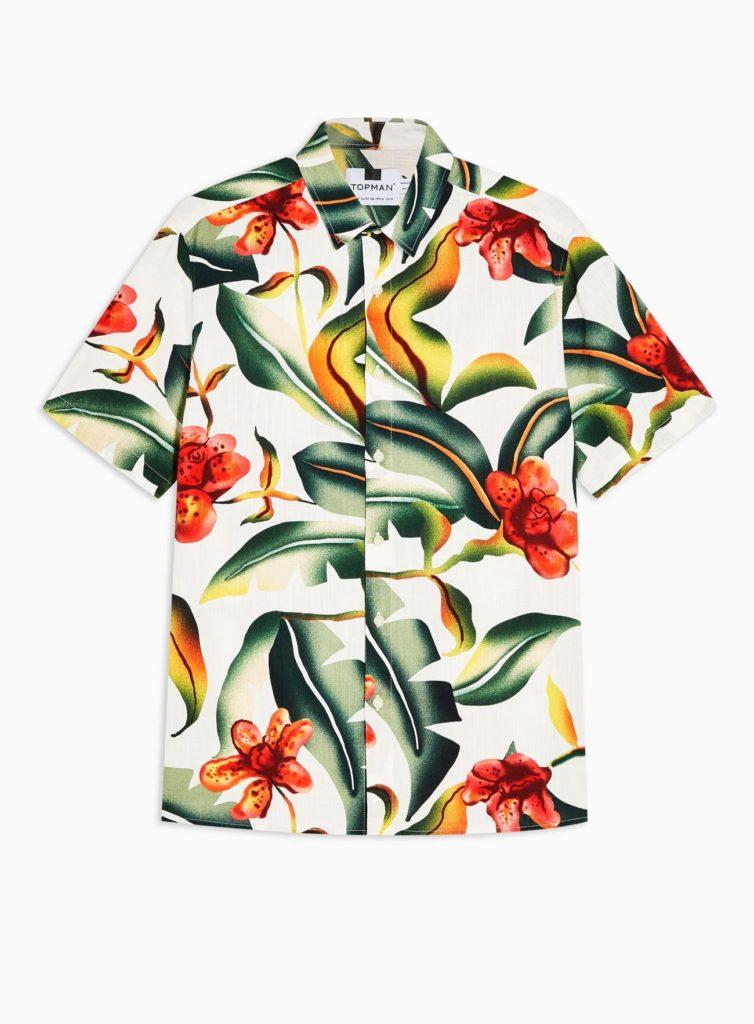 Ecru Floral Oversized Shirt $45.00