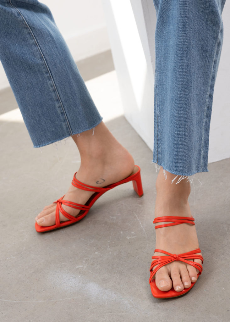 Strappy Knotted Heeled Sandals $129