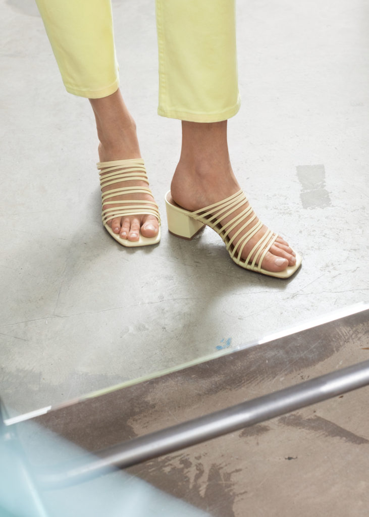 Strappy Square Toe Heeled Sandals $129
