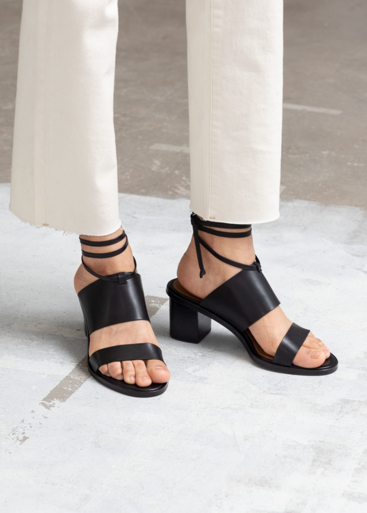 Lace Up Leather Mule Sandals $129