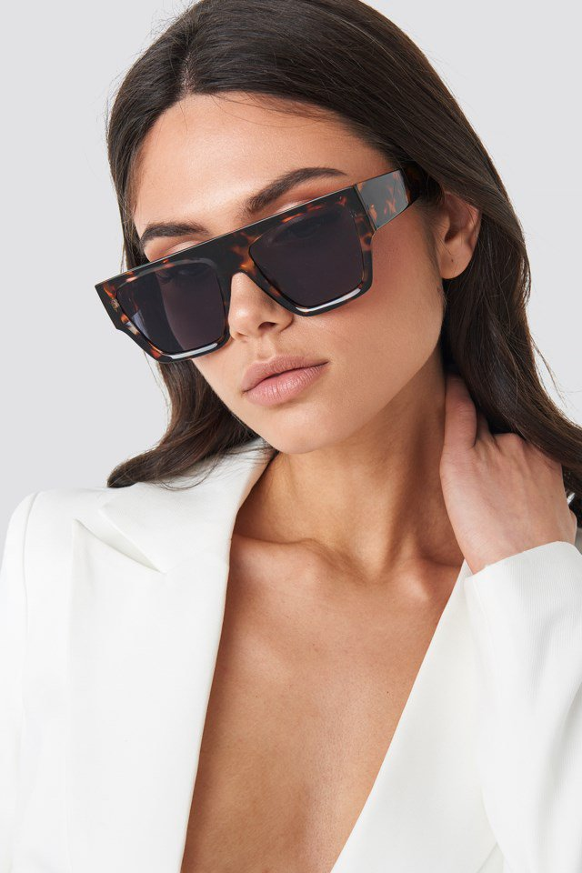 Square Tortoise Sunglasses Brown $23.95