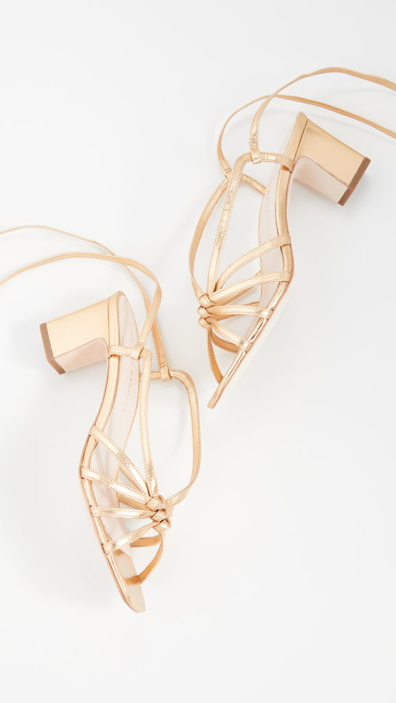 Loeffler Randall Libby Knotted Wrap Sandals $350.00