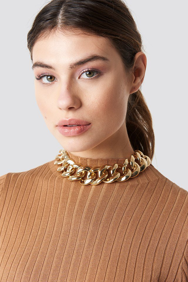 Big Chain Necklace Gold $17.95