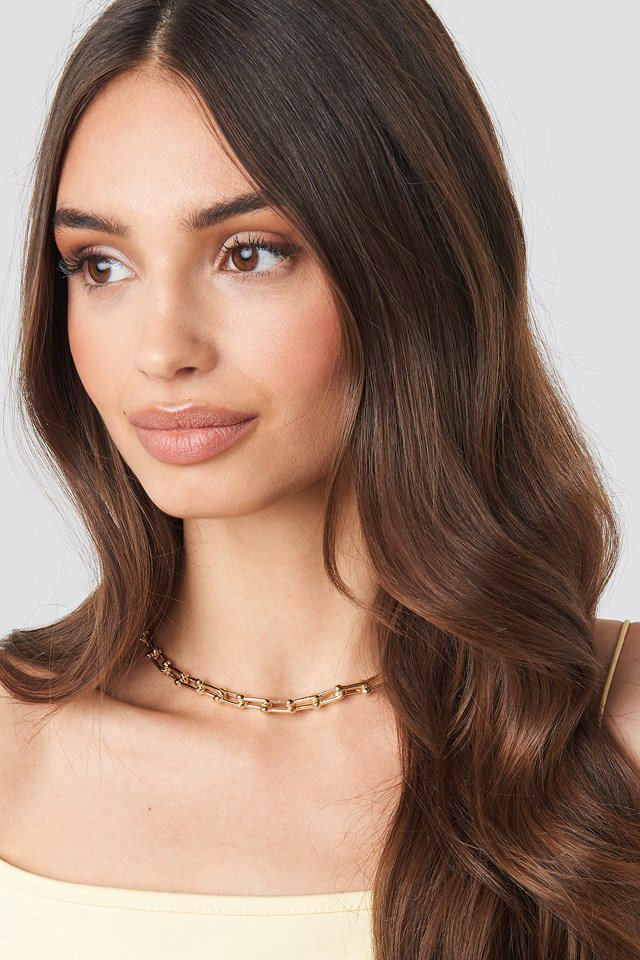 Connected Links Chain Necklace Gold  $14.95