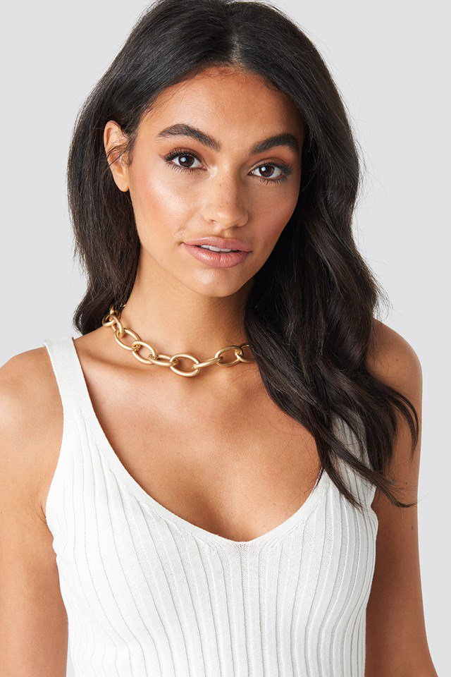 Matte Oversize Chain Necklace Gold $17.95