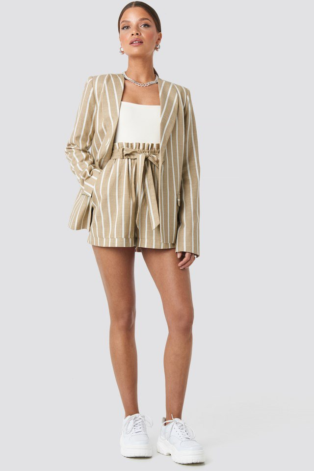 Straight Cut Blazer Beige $83.95
