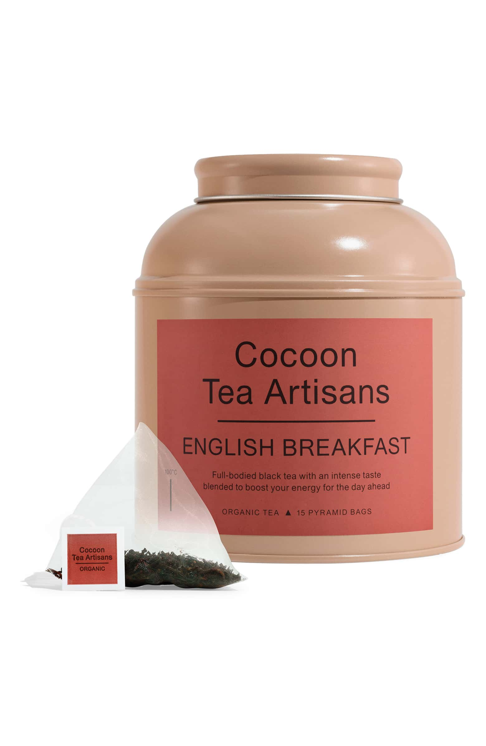 Organic English Breakfast Tea Big Tea Caddy COCOON TEA ARTISANS $32.00