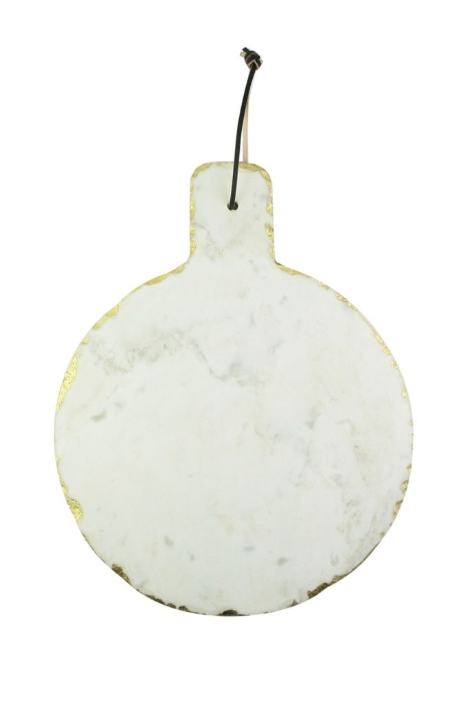 White Marble & Gold Trimmed Cutting Board $19.97https://fave.co/32Bsztj