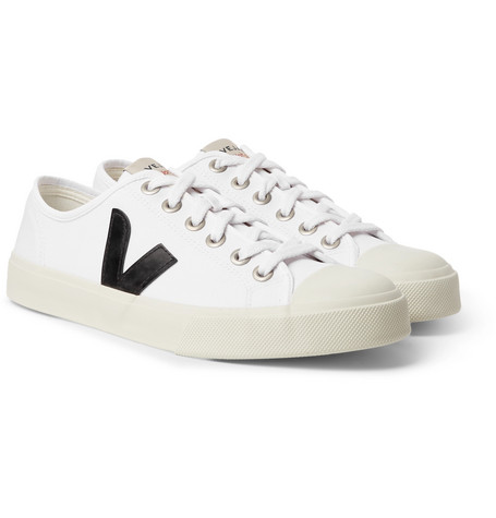VEJA Wata Rubber-Trimmed Organic Cotton-Canvas Sneakers $95https://fave.co/30TR4Ae