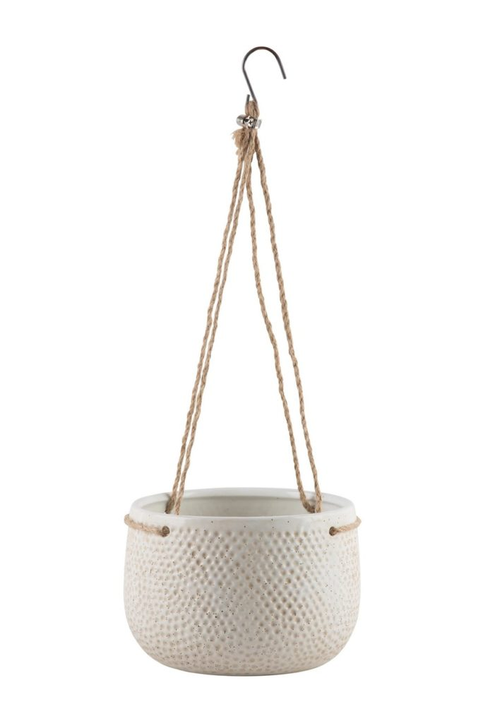 "8""x5"" Ivory Texture Hung Planter $10.97"