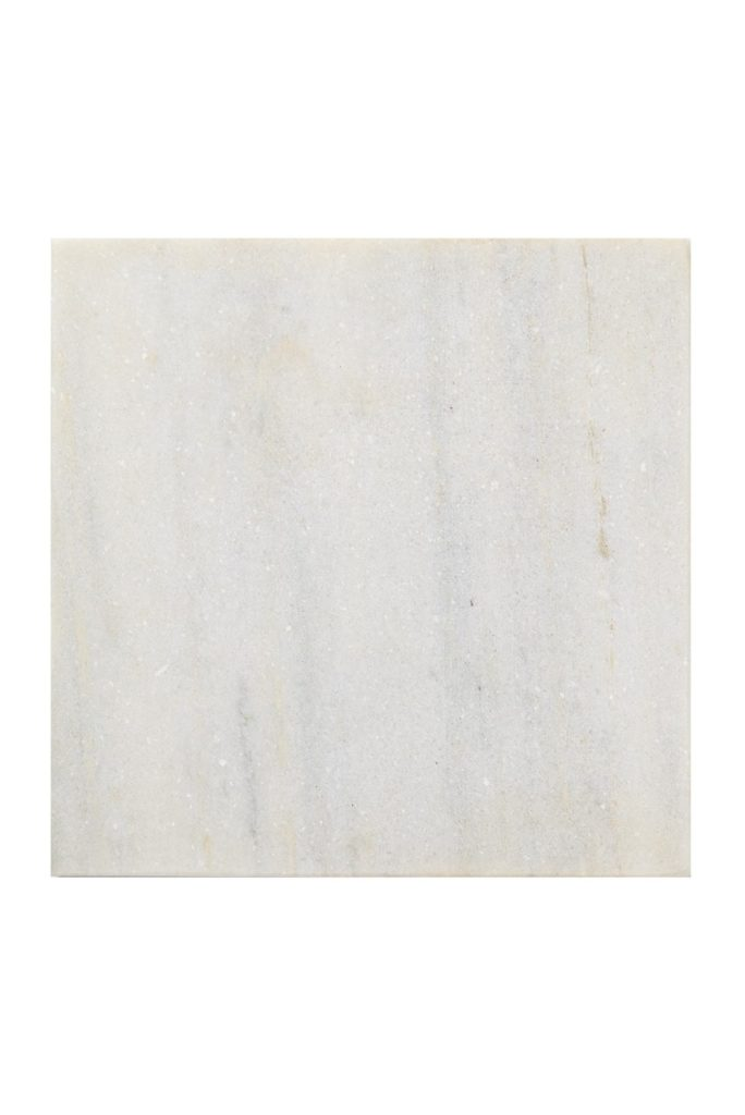 "White/Grey Marble 8"" Square Rustic Base $29.97"