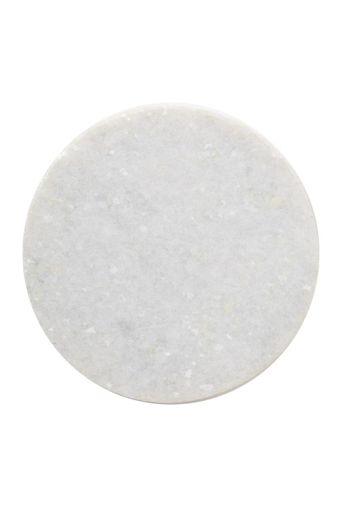 "White/Grey Marble 6"" Round Rustic Base $24.97"