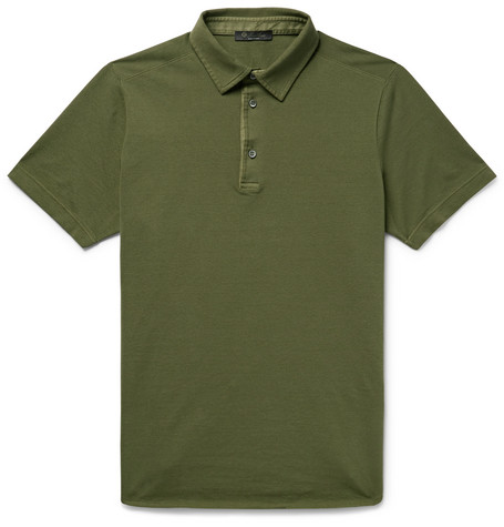 LORO PIANA Cotton-Piqué Polo Shirt $495