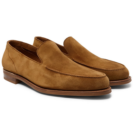 EDWARD GREEN Islington Suede Loafers $1,360