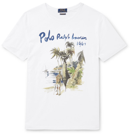 POLO RALPH LAUREN Slim-Fit Printed Cotton-Jersey T-Shirt $55
