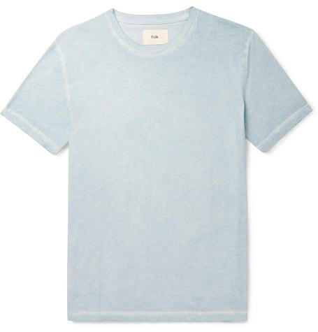 FOLK Assembly Cotton-Jersey T-Shirt $80