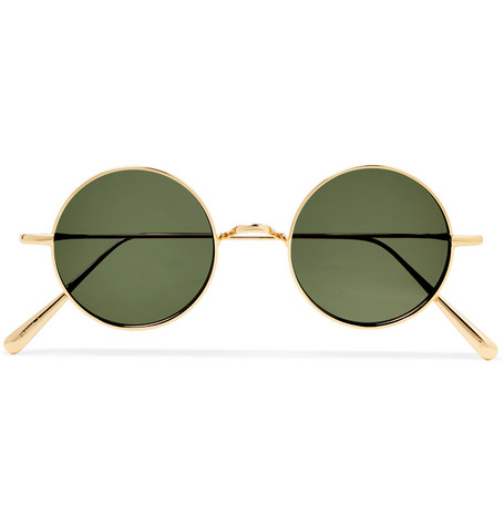 CUBITTS Guilford Round-Frame Gold-Tone Sunglasses $165