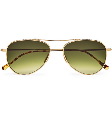 MR LEIGHT Ichi S Aviator-Style Gold-Tone Sunglasses $665