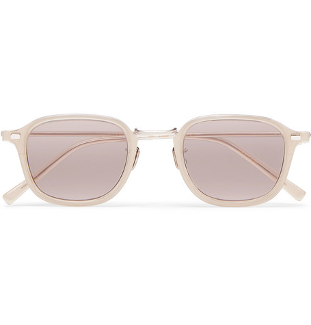 EYEVAN 7285 Square-Frame Acetate And Silver-Tone Sunglasses $700