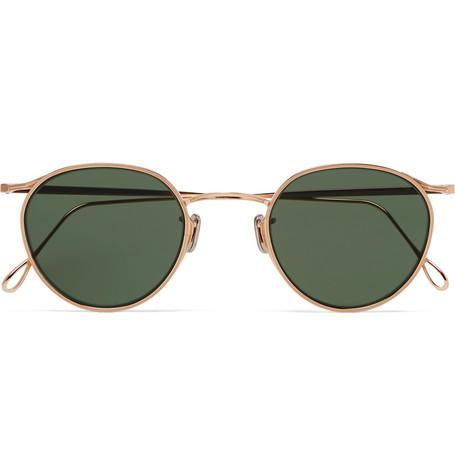 EYEVAN 7285 Round-Frame Gold-Tone Sunglasses $450