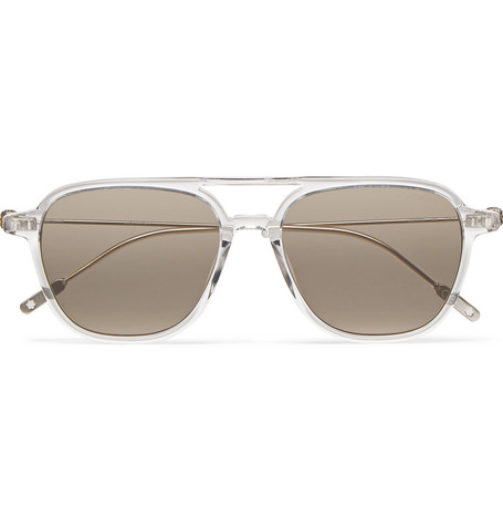 MONTBLANC Navigator Aviator-Style Acetate Sunglasses $390