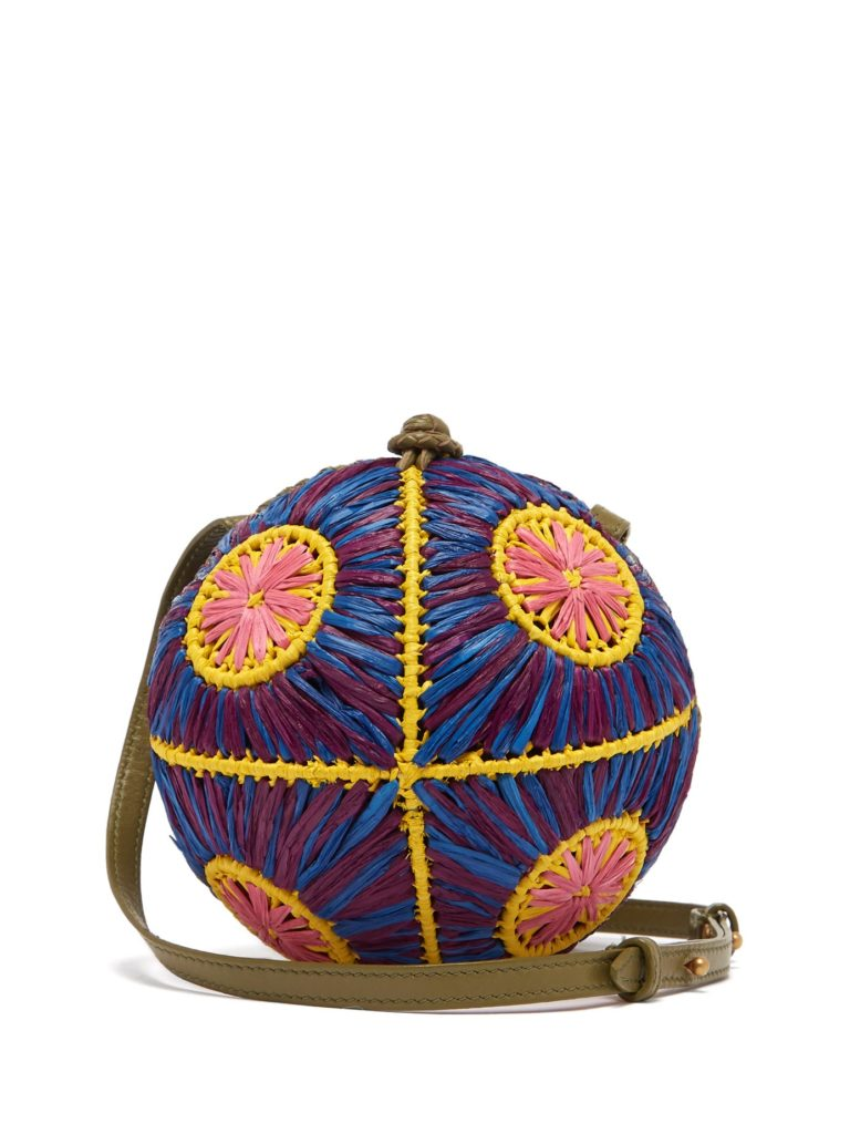 SOPHIE ANDERSON  Saiu woven-raffia cross-body bag $115.00