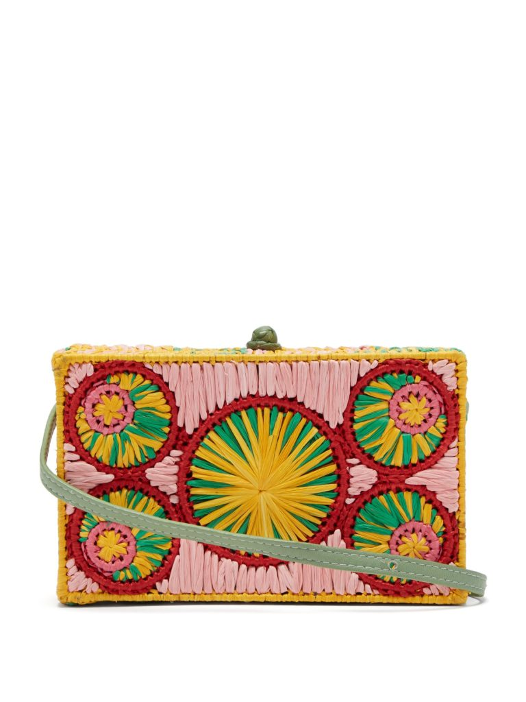 SOPHIE ANDERSON  Mia woven-raffia cross-body bag $300