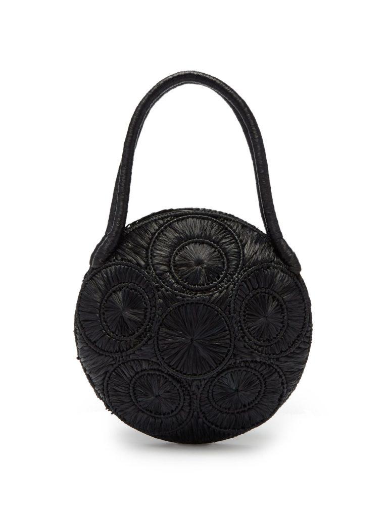 SOPHIE ANDERSON Saba woven-raffia bag $349