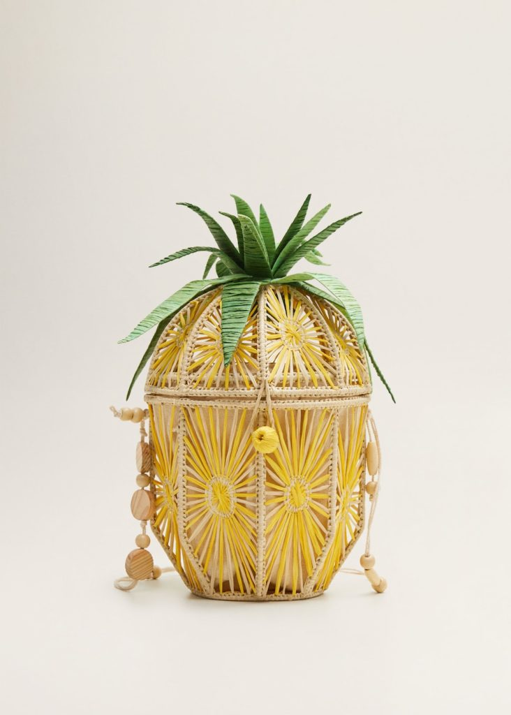 Pineapple raffia bag $64.99