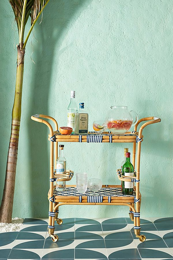 Woven Bistro Indoor/Outdoor Bar Cart $498.00