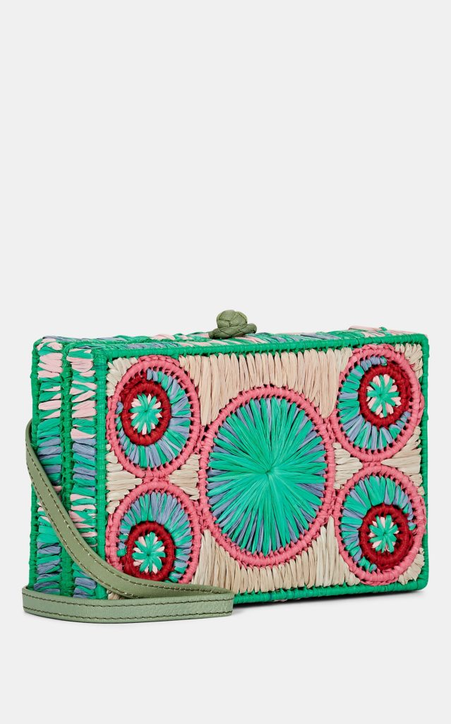 SOPHIE ANDERSON Mia Raffia Crossbody Bag XO $385