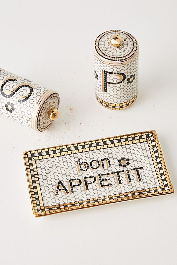 Bistro Salt & Pepper Shakers $18.00
