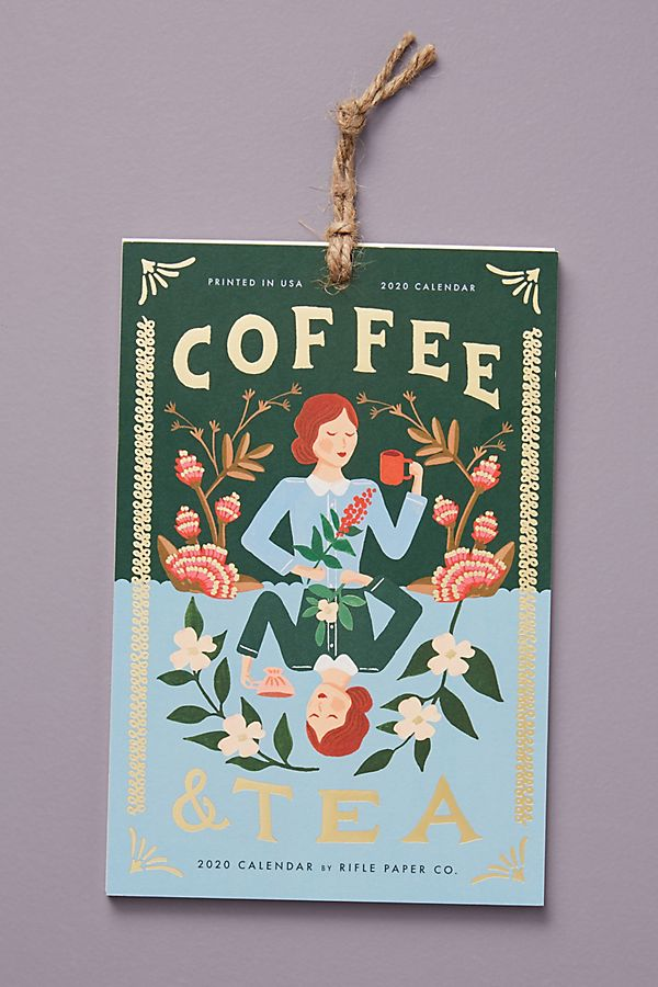Rifle Paper Co. Tea & Coffee 2020 Hanging Calendar $20.00