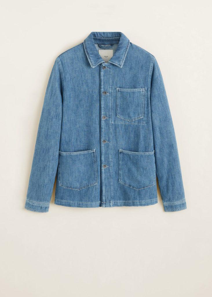 Pocket denim overshirt $69.99