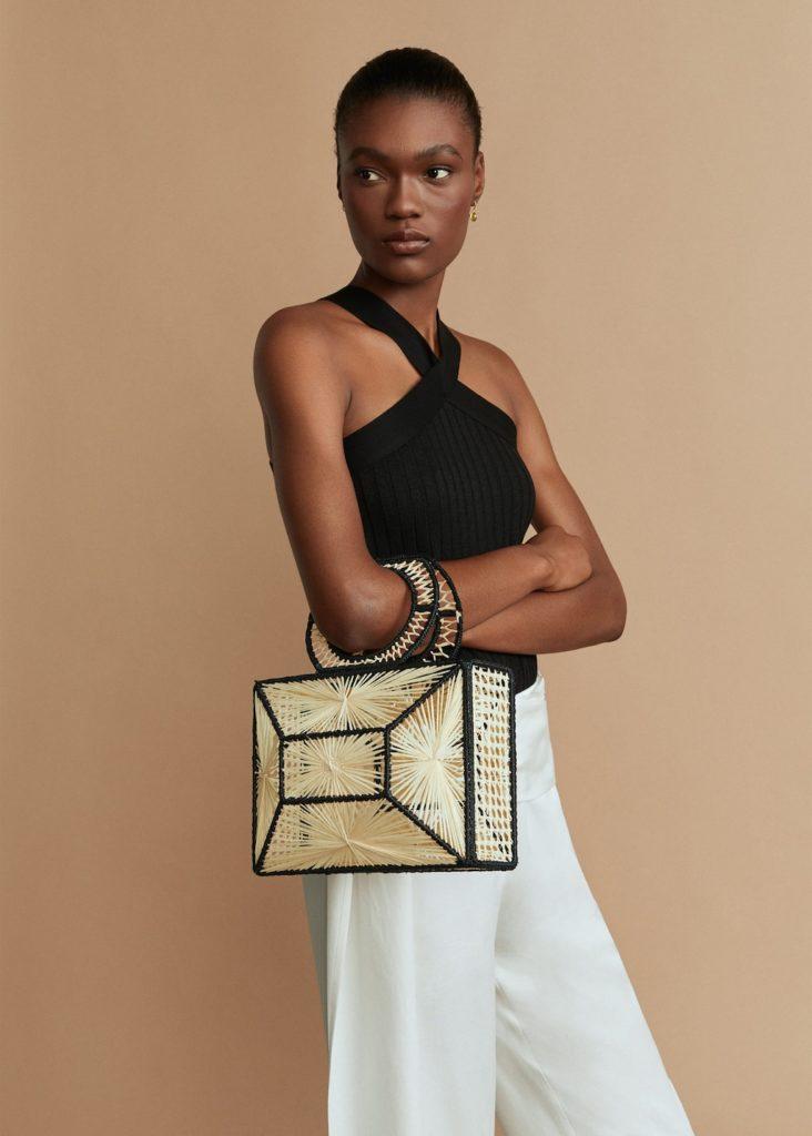 Bicolor raffia bag $119.99https://fave.co/32XuFDF