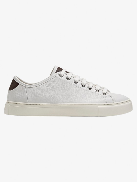 WHITE LEATHER PLIMSOLLS $120.00