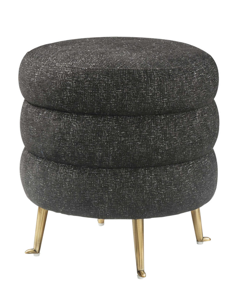 Black Ladder Tweed Ottoman $209.99
