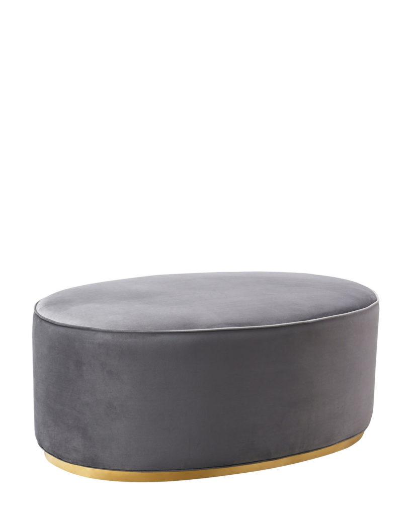 Grey Scarlett Ottoman $249.99