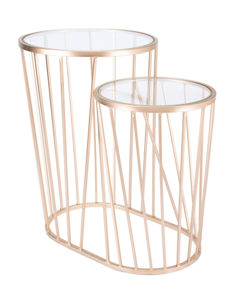 Esme Gold Side Table $194.99