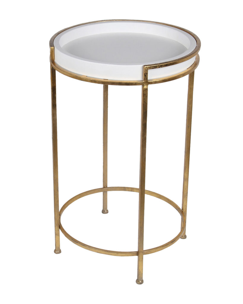 Small Gold-Tone & White Stand $39.99